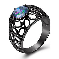 ステートメントリング 指輪 模造ダイヤモンド ベーシック ファッション あり 欧米の 高級ジュエリー シンプルなスタイル ブリティッシュ クラシック 銅 ゴールドメッキ ガラス 幾何学形 ジュエリー のために結婚式 パーティー 誕生日 婚約 日常 カジュアル