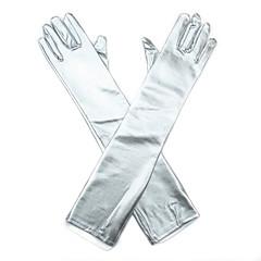 オペラレングス 指先 グローブ 合皮 ブライダル手袋 パーティー/イブニング手袋 オールシーズン ラインストーン
