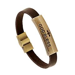 Herre Læder Armbånd Smykker Natur Mode Læder Legering Smykker Til Speciel Lejlighed Sport