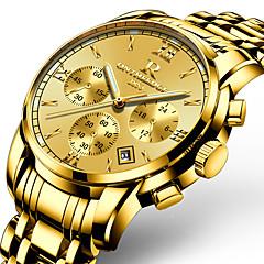 בגדי ריקוד גברים לגברים שעונים צבאיים שעוני שמלה שעוני אופנה שעון יד שעון צמיד שעונים יום יומיים Japanese קווארץ לוח שנה זוהר בחושךמתכת