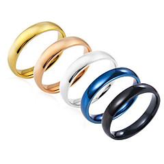 Heren Dames Ring Sieraden Basisontwerp Kostuum juwelen Roestvast staal Ronde vorm Sieraden Voor Feest Verjaardag Feest/Uitgaan