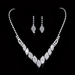 Γυναικεία Κρεμαστά Σκουλαρίκια Κολιέ Τσόκερ Νυφικό κόσμημα σετ Cubic Zirconia Μοντέρνα κοσμήματα πολυτελείας Κομψή Cubic Zirconia