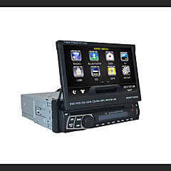 7 tommers 1DIN tft-skjerm i dashbordet avtakbart panel bil dvd spiller med gps, bt, rds, ipod, berøringsskjerm