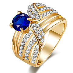 בגדי ריקוד נשים טבעות הצהרה טבעת קריסטל עיצוב בייסיק עיצוב מיוחד אבנים נוצצות תכשיטי יוקרה תכשיטים גדולים קלאסי תכשיטים אופנתי וינטאג'
