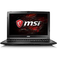 Msi gaming laptop 15,6 Zoll intel i7-7700hq 8gb ddr4 128gb ssd 1tb hdd windows10 gtx1050 2gb gl62m 7rd-223cn