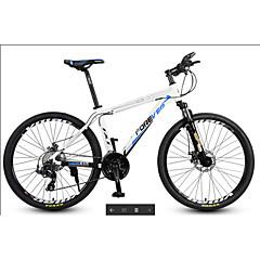 산악 자전거 Pyöräily 30 Nopeus 27 Inch MICROSHIFT 24 Levyjarru Etujousihaarukka Alumiiniseosrunko Alumiini Aluminium
