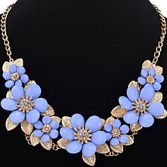 Damen Mädchen Halsketten Ketten Statement Ketten Strass BlumenformEinzigartiges Design Anhänger Stil Perle Freundschaft Langlebig