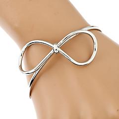 בגדי ריקוד נשים שרשרת וצמידים צמידים צמידי חפתים אופנתי Rock לוליטה תכשיטים מתכת פלדה ציפוי זהב עור מתכתי מבריק Geometric Shape תכשיטים