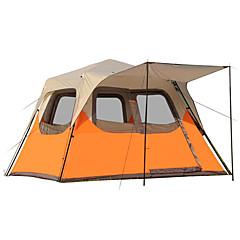 CAMEL 5-8 사람 텐트 캐빈 텐트 더블 베이스 캠핑 텐트 원 룸 접이식 텐트 방수 방풍 비 방지 용 캠핑 & 하이킹 피싱 등산 캠핑 여행 >3000mm 300*270*210 CM