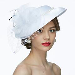 Látka Síť Přílba-Svatební Zvláštní příležitosti Ozdoby do vlasů Klobouky francouzský závoj Jeden díl