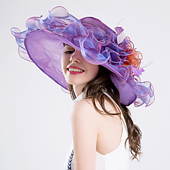 羽毛 かぶと-結婚式 パーティー パーティー/フォーマル カジュアル ヘッドドレス ハット 1個