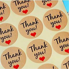 60 Piece / set Kraft Paper label sticker Thank You Gift Tags Wedding Favors Party Accessories Christmas DIY Burlap Wedding Decoration