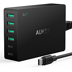 USB 충전기 6 포트 데스크 충전기 빠른 충전 3.0 US플러그 충전 어댑터