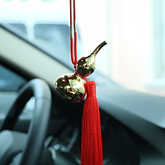 DIY Automotive Pendants Car Pendant Gold Gourd Ornaments Interior Jewelry Ornaments Chinese Tassels Luxury Models Car Pendant & Ornaments Metal