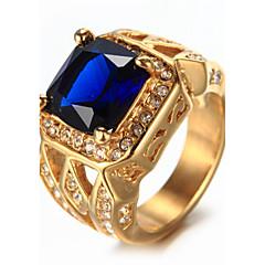 Heren Bergkristal Modieus Vintage Luxe Sieraden Elegant Bling bling Strass Titanium Staal Sieraden Sieraden Voor Verjaardag Dagelijks