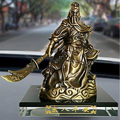 DIY automotive koristeet rohkea buddha helmiä guan gong sarjakuva nukke auto riipus&Koristeet metalli