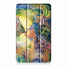 Festmény minta háromszoros pu bőr tok állvány a huawei medipad t3 7,0 hüvelykes tabletta pc