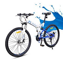 산악 자전거 Folding Bikes Pyöräily 24 Nopeus 26 tuumaa/700CC Yinxingin Tuplalevyjarru Etujousihaarukka Taiteltava Soft-tail runko Tavallinen