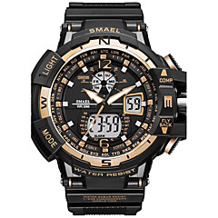 SMAEL Men's Sport Watch Fashion Watch Digital Watch Japanese Quartz DigitalChronograph Water Resistant / Water Proof Shock Resistant Stopwatch