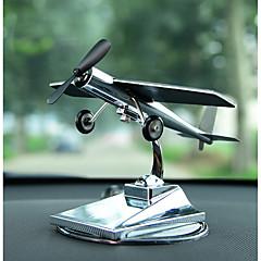 Diy ornamentos automotivos ornamentos de avião solar carro criativo avião modelo carro pingente&Ornamentos de metal