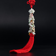 DIY自動車ペンダント装飾的な安全なバックル中国スタイルの縁起の良い車のペンダント&翡翠の装飾品