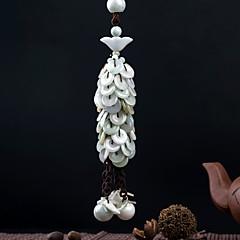 Diy pendentes automotivos bênção paz handmade requintado borla moda richlucky carro pendente&Ornamentos esmeralda
