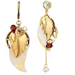 Damskie Kolczyki na sztyft Postarzane Osobiste Niedopasowanie biżuteria kostiumowa Stop Leaf Shape Biżuteria Na Urlop Wyjściowe Plaża