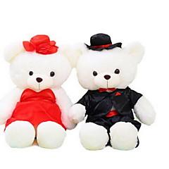 צעצועים ממולאים בובות צעצועים Bear שמלת חתונה חיה לא מפורט חתיכות