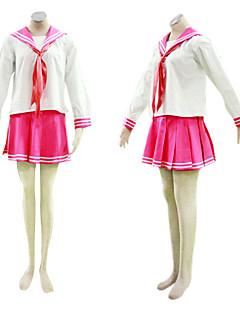 cosplay dräkt inspirerad av lyckliga stjärna japansk skoluniform röd ver.