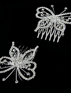 Women's Alloy Headpiece-Wedding / Special Occasion Hair Combs Clear Round