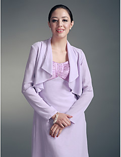 Longsleeves Chiffon Special Occasion Evening Jacket/ Wedding Wrap Bolero Shrug