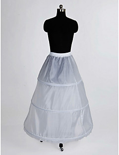 Nylon A-Line Full Gown 1 Tier Floor-length Slip Style/ Wedding Petticoats