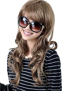 sin tapa extra naturaleza a largo sintético de alta calidad ver la luz peluca rubia de pelo rizado (0463-lpp528)