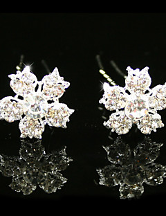 Gorgeous Rhinestones Wedding Bridal Pins/ Flowers,2 Pieces