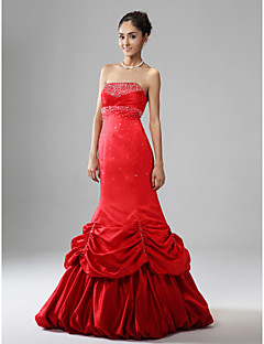 TS Couture Prom Formal Evening Military Ball Dress - Sparkle & Shine Trumpet / Mermaid Strapless Floor-length Satin withBeading Pick Up