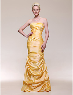 Formal Evening/Military Ball Dress - Daffodil Plus Sizes Trumpet/Mermaid Strapless Floor-length Taffeta