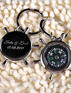 gepersonaliseerde sleutelhanger - kompas (set van 6)