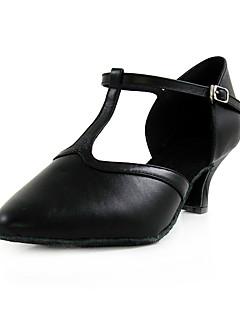 De moderne standaard vrouwen naaldhak leer met gesp dans schoenen