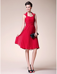 A-line Plus Sizes Mother of the Bride Dress - Ruby Knee-length Sleeveless Chiffon