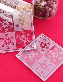 Lustrous Snowflake Coasters (set of 2)