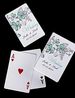 personlige spillekort - grønne blomster