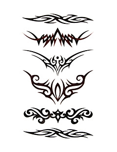 5 piezas de tatuajes temporales a prueba de agua (17,5 cm * 10cm)