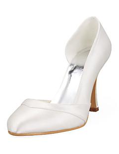 Feminino Wedding Shoes Saltos Saltos Casamento Preto/Rosa/Vermelho/Marfim/Branco/Prateado/Dourado