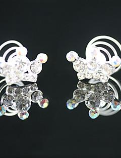 2 peças strass lindo casamento pinos de noiva headpieces