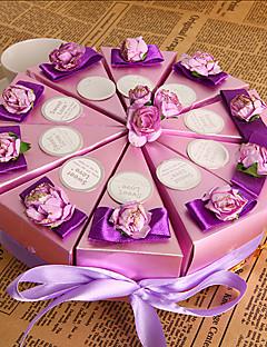 paarse bloemen taart voor box (set van 10)
