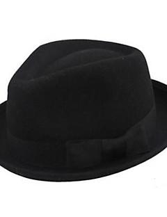 Pure Black Wool Fedor Hat