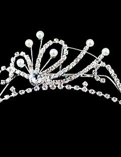 Women's/Flower Girl's Alloy/Imitation Pearl Headpiece - Wedding/Special Occasion Tiaras