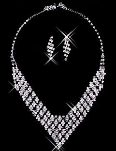 Korusetti Naisten koot Vuosipäivä / Häät / Kihlaus / Syntymäpäivä / Lahja / Juhlat / Päivittäin Jewelry Sets Metalliseos Strassi