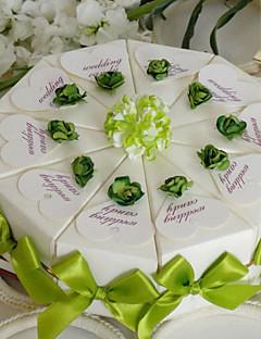 snev av grønn kake favør boks (sett av 10)