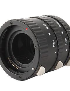 3-Piece Macro Extension Tube Set for Nikon D-SLR - Black